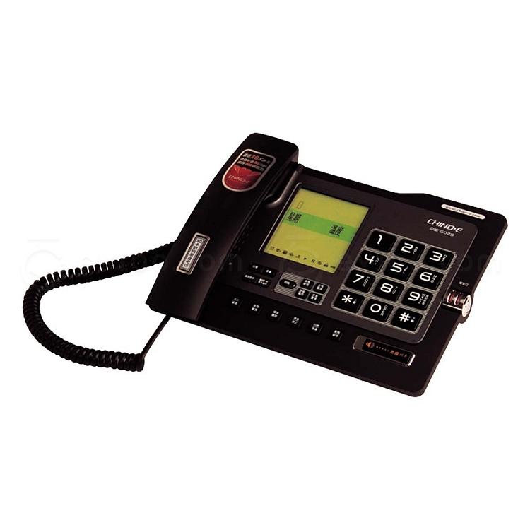 中诺 G025数码录音电话(可插sd卡) (黑)  G025