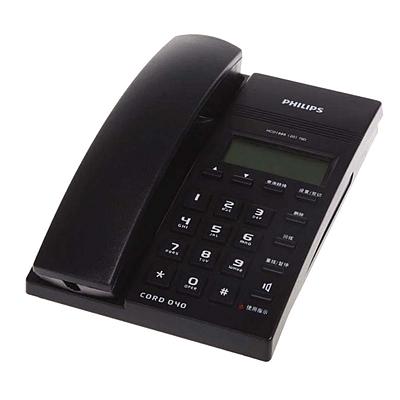 飞利浦 来电显示普通电话机 (蓝)  CORD 040