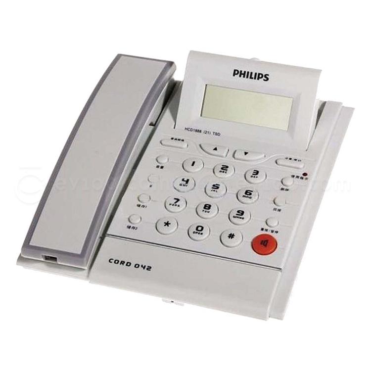 飞利浦 来电显示普通电话机 (白)  CORD 042