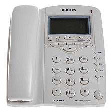 飞利浦 来电显示普通电话机 (白)  TD-2815D