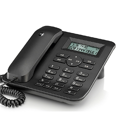 摩托罗拉 有绳电话机 (黑)  CT410C