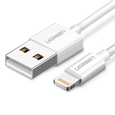 绿联 MFi认证苹果lightning数据线/充电线 (白色) 2米  20730