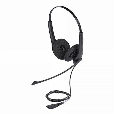 捷波朗 电销客服话务耳机 (黑) 双耳 降噪 适用于电话机  BIZ 1500 DUO-RJ9