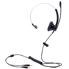 繽特力 電腦客服/坐席耳機 (黑) 3.5mm直連電腦  SP11-PC
