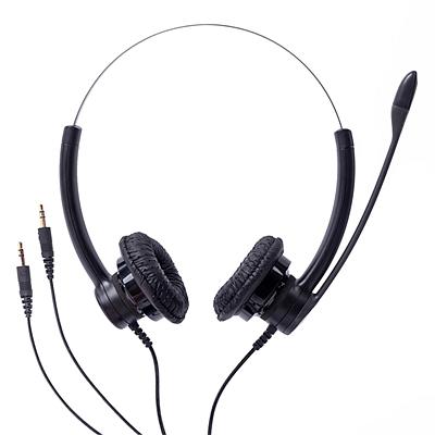 缤特力 降噪耳机 (黑) 3.5mm双插头直连电脑  SP12-PC
