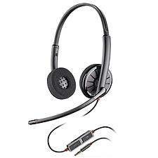 缤特力 电脑双耳耳机带麦克风 (黑) 3.5mm单插带麦克风  C225