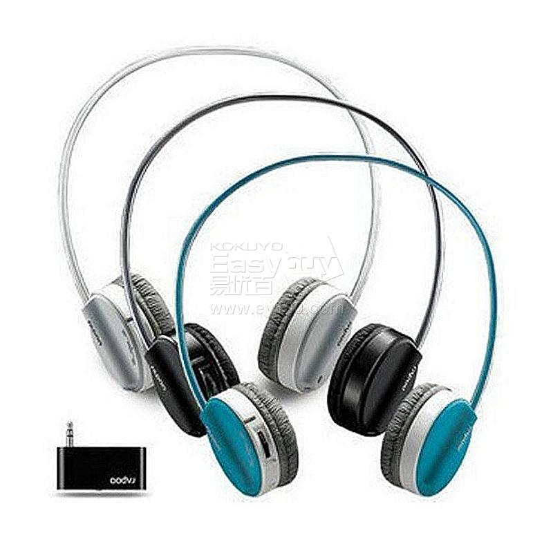 雷柏 无线立体声麦克风耳机 (黑) h3070