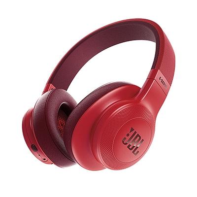 JBL 无线蓝牙头戴式耳机/HIFI音乐耳机 (红)  E55BT