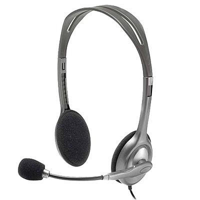 罗技 多功能立体声耳麦 (灰)  H110