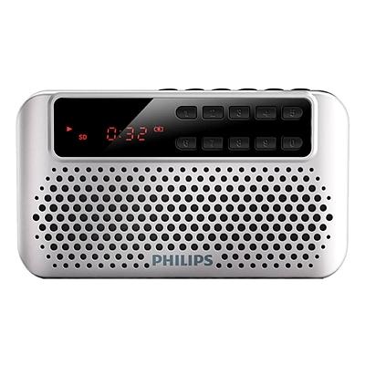 飞利浦 便携式插卡音箱 (银) FM收音机  SBM120SLV/93