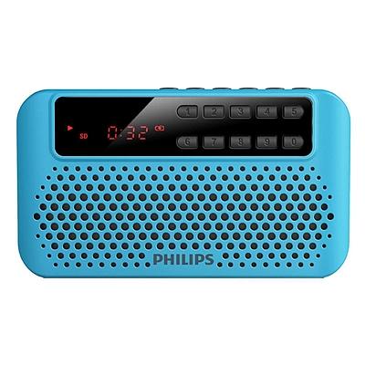 飞利浦 便携式插卡音箱 (蓝) FM收音机  SBM120BLU/93