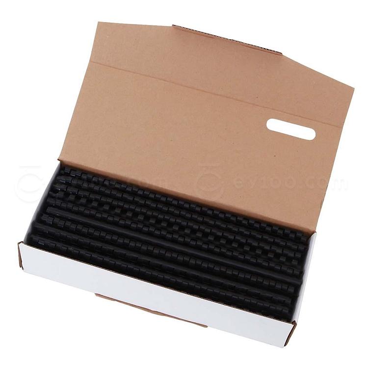 好文客 21孔活页装订胶圈 (黑) 100支/盒  直径10mm