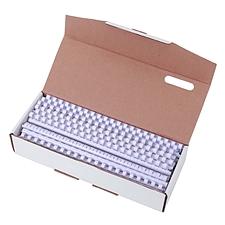 好文客 21孔活页装订胶圈 (白) 100支/盒  直径10mm