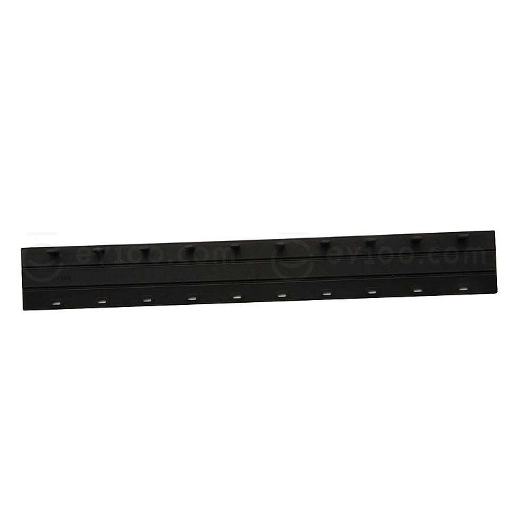 力晴 10孔活页装订夹条 (黑) 100支/盒  12.5mm