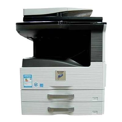 夏普 黑白数码复印机 双纸盒+送稿器+工作台配置  MX-2608N