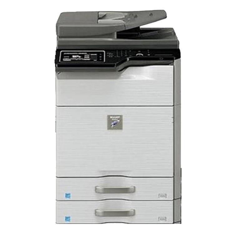 夏普 黑白数码复印机 双纸盒+送稿器+工作台配置  MX-M4608N