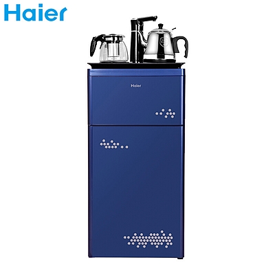 海尔 多功能触屏智能茶吧机下置式水桶饮水机 (蓝) 冰热型  YD1683-CB