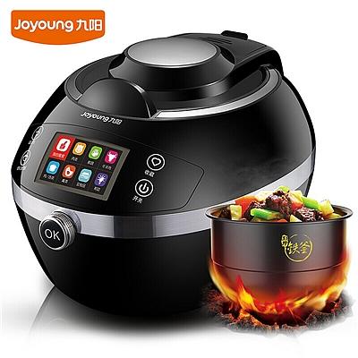 九阳 炒菜机 自动烹饪锅/电饭煲/炒菜锅 (黑色) 1600W  J6