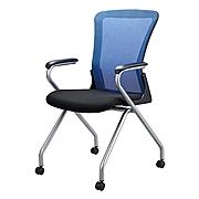 恩荣 培训椅 (座垫黑/椅背蓝)  JG8002HC1