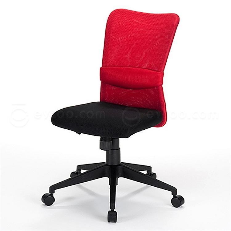 山业 SANWA简约型无扶手带腰靠职员椅 (红)  150-SNC055R