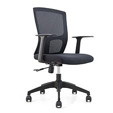 吴俚 办公椅 (黑)  WL-8202B