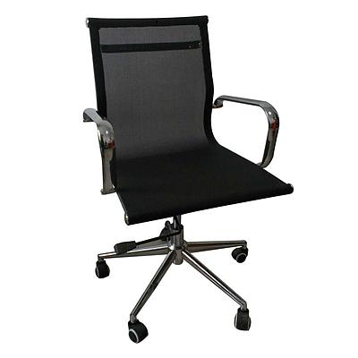 吴俚 会议椅 (黑)  WL-8053B