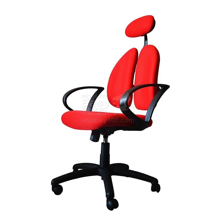 普格瑞斯 人体工学双背办公椅 (红) 一般海棉  PH-22BH