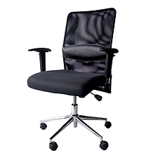吴俚 办公椅 (黑)  WL-8375B