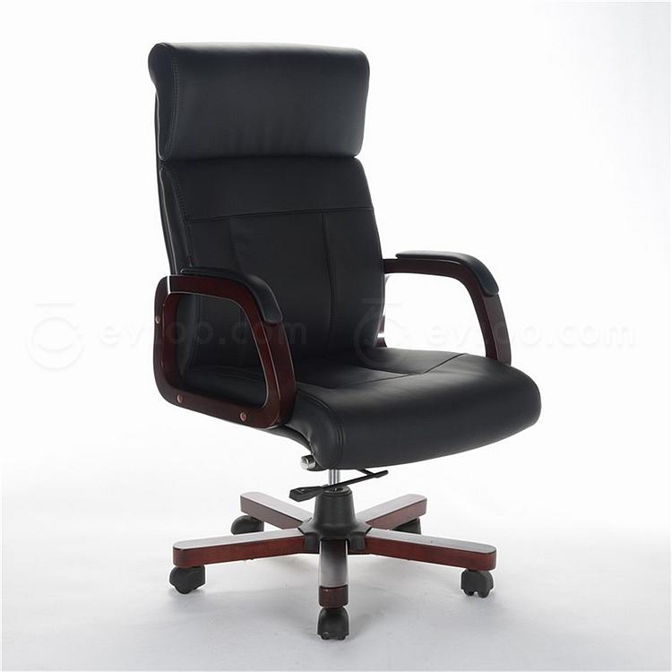顺发 半牛皮大班椅 (黑)  SH-835A