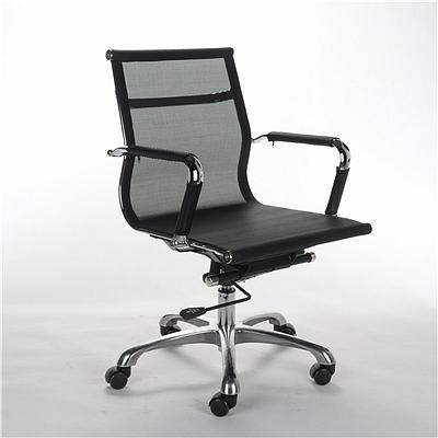 顺发 网布职员椅 (黑)  SH-1406B