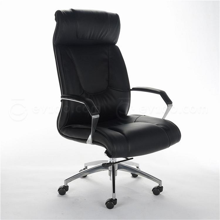 顺发 半牛皮大班椅 (黑)  SH6006A