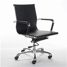 顺发 仿皮职员椅 (黑)  SH1407B