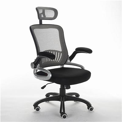 顺发 网布主管椅 (背灰色座黑色)  SH1402A