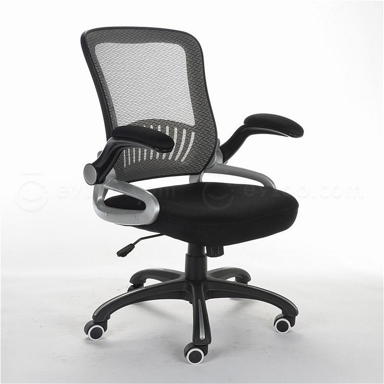 顺发 网布职员椅 (背灰色座黑色)  SH1402B