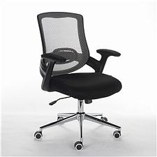 顺发 网布职员椅 (背灰色座黑色)  SH1565B
