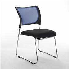 顺发 网布会客椅 (背蓝色座黑色)  SH1304C