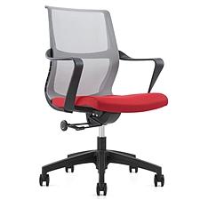 吴俚 办公椅 (灰+红)  WL-1666B