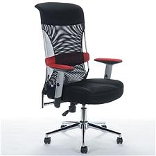 顺发 记忆棉舒适主管椅 (黑+红腰靠) 带腰靠  JM1633A