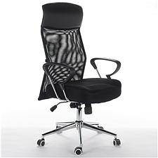 顺发 记忆棉舒适主管椅 (黑) 带头靠  JM1634A