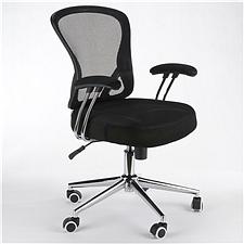 顺发 记忆棉舒适职员椅 (黑)  JM163BM