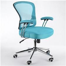 顺发 记忆棉舒适职员椅 (浅蓝)  JM163BM
