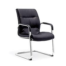 集大 弓形仿皮办公椅 (黑) W570*D710*H940mm  CH-113C