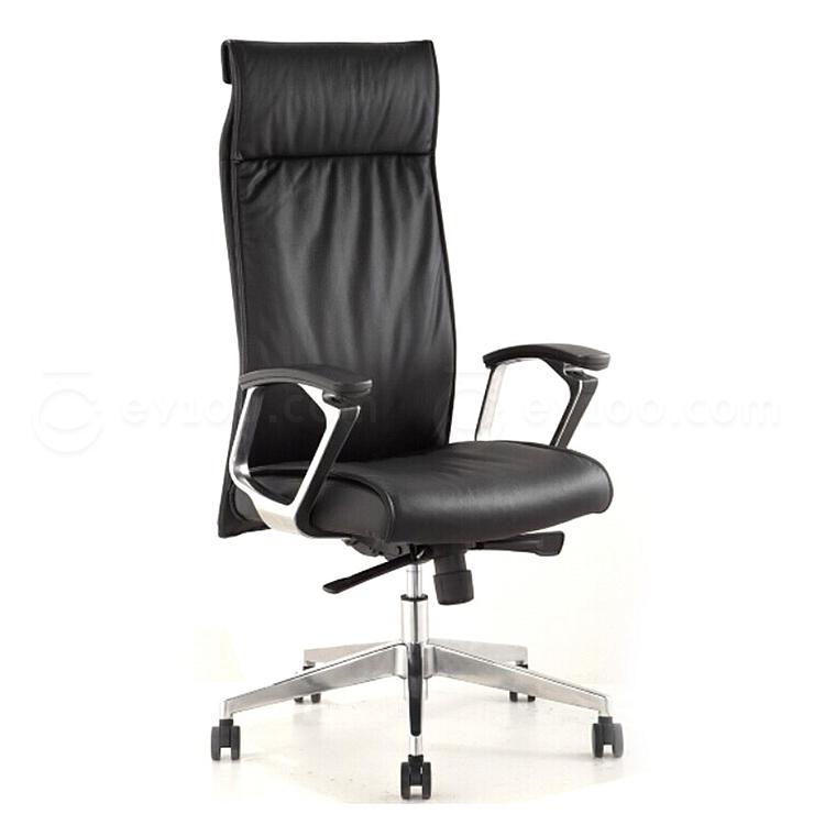 集大 牛皮办公椅 (黑) W620*D570*H1190-1260mm  CH-140A-1