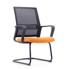 集大 弓形办公椅 (黑背橙座) W580*D560*H930mm  CH-191C