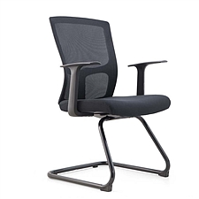 集大 弓形办公椅 (黑) W620*D550*H930mm  CH-183C