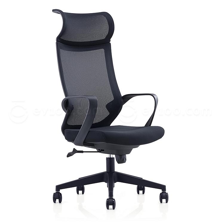 集大 办公椅 (黑) W570*D660*H1185-1285mm  CH-193A