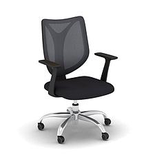 集大 办公椅 (黑) W610*D500*H940-1040mm  FCH002B-1