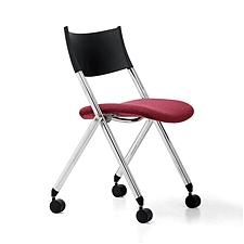 集大 培训椅 (黑背红座) W600*D570*H780mm  CH-039C1-2