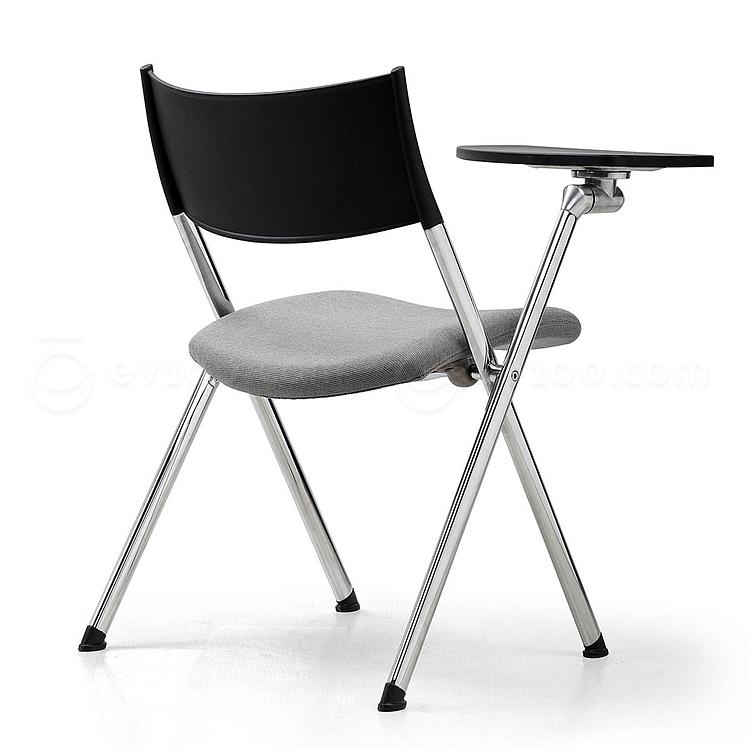集大 培训椅 (黑背灰座) W600*D590*H780mm  CH-039CX