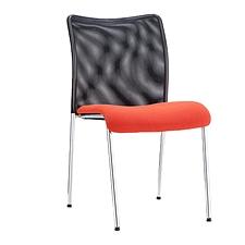 集大 培训椅 (黑背红座) W560*D460*H850mm  CH-046C1